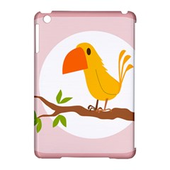 Yellow Bird Tweet Apple Ipad Mini Hardshell Case (compatible With Smart Cover) by Alisyart