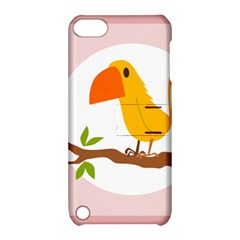 Yellow Bird Tweet Apple Ipod Touch 5 Hardshell Case With Stand by Alisyart
