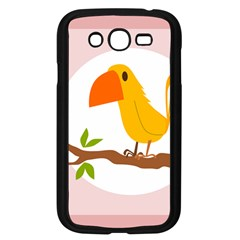 Yellow Bird Tweet Samsung Galaxy Grand Duos I9082 Case (black) by Alisyart