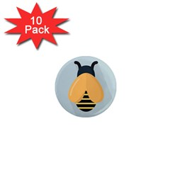 Animals Bee Wasp Black Yellow Fly 1  Mini Magnet (10 Pack)  by Alisyart