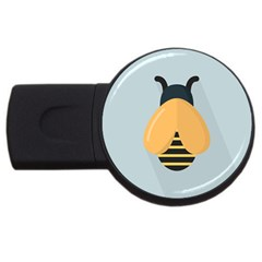 Animals Bee Wasp Black Yellow Fly Usb Flash Drive Round (2 Gb) by Alisyart