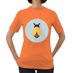 Animals Bee Wasp Black Yellow Fly Women s Dark T Shirt by Alisyart