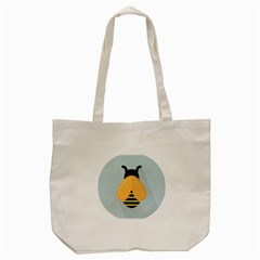 Animals Bee Wasp Black Yellow Fly Tote Bag (cream) by Alisyart