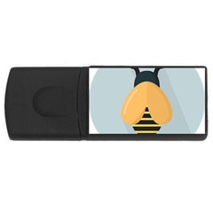 Animals Bee Wasp Black Yellow Fly Usb Flash Drive Rectangular (4 Gb) by Alisyart