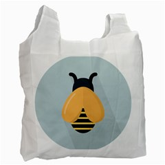 Animals Bee Wasp Black Yellow Fly Recycle Bag (one Side) by Alisyart