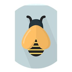 Animals Bee Wasp Black Yellow Fly Shower Curtain 48  X 72  (small)  by Alisyart