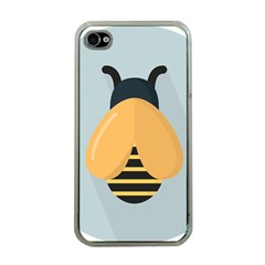 Animals Bee Wasp Black Yellow Fly Apple Iphone 4 Case (clear) by Alisyart