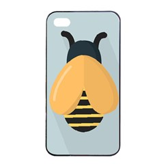 Animals Bee Wasp Black Yellow Fly Apple Iphone 4/4s Seamless Case (black) by Alisyart
