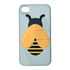 Animals Bee Wasp Black Yellow Fly Apple Iphone 4/4s Hardshell Case With Stand by Alisyart