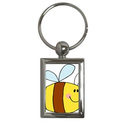 Animals Bee Wasp Smile Face Key Chains (rectangle)  by Alisyart