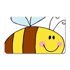Animals Bee Wasp Smile Face Magnet (rectangular) by Alisyart
