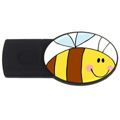 Animals Bee Wasp Smile Face Usb Flash Drive Oval (2 Gb) by Alisyart