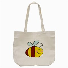 Animals Bee Wasp Smile Face Tote Bag (cream) by Alisyart