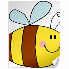 Animals Bee Wasp Smile Face Canvas 12  X 16   by Alisyart