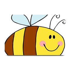 Animals Bee Wasp Smile Face Plate Mats by Alisyart