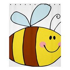 Animals Bee Wasp Smile Face Shower Curtain 60  X 72  (medium)  by Alisyart