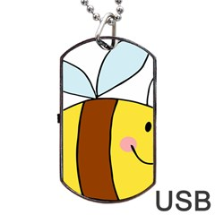 Animals Bee Wasp Smile Face Dog Tag Usb Flash (two Sides) by Alisyart