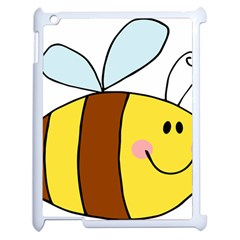 Animals Bee Wasp Smile Face Apple Ipad 2 Case (white) by Alisyart