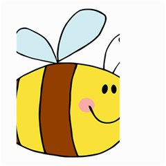 Animals Bee Wasp Smile Face Small Garden Flag (two Sides) by Alisyart