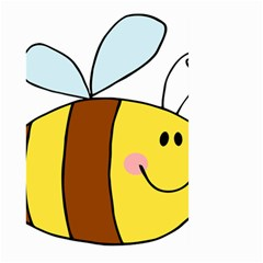 Animals Bee Wasp Smile Face Large Garden Flag (two Sides) by Alisyart