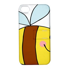 Animals Bee Wasp Smile Face Apple Iphone 4/4s Hardshell Case With Stand by Alisyart