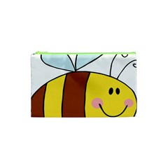 Animals Bee Wasp Smile Face Cosmetic Bag (xs) by Alisyart