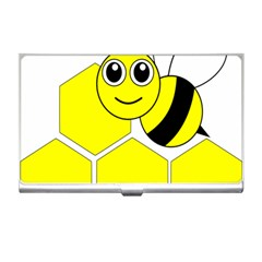 Bee Wasp Yellow Business Card Holders by Alisyart