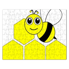 Bee Wasp Yellow Rectangular Jigsaw Puzzl by Alisyart