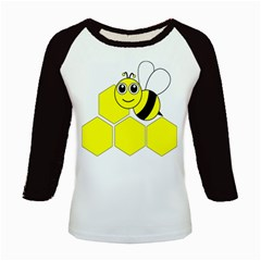 Bee Wasp Yellow Kids Baseball Jerseys by Alisyart
