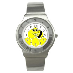 Bee Wasp Yellow Stainless Steel Watch by Alisyart