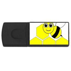 Bee Wasp Yellow Usb Flash Drive Rectangular (4 Gb) by Alisyart