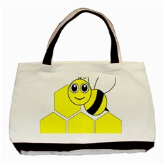Bee Wasp Yellow Basic Tote Bag (two Sides) by Alisyart