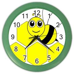 Bee Wasp Yellow Color Wall Clocks by Alisyart
