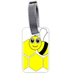 Bee Wasp Yellow Luggage Tags (one Side)  by Alisyart