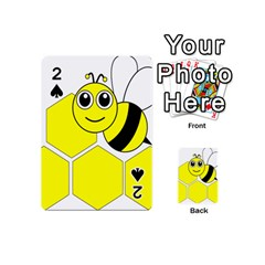 Bee Wasp Yellow Playing Cards 54 (mini)  by Alisyart