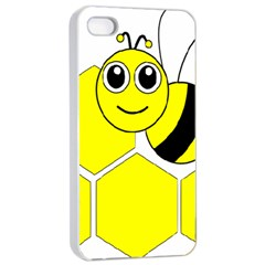 Bee Wasp Yellow Apple Iphone 4/4s Seamless Case (white) by Alisyart