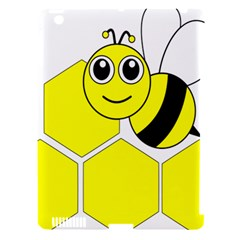 Bee Wasp Yellow Apple Ipad 3/4 Hardshell Case (compatible With Smart Cover) by Alisyart