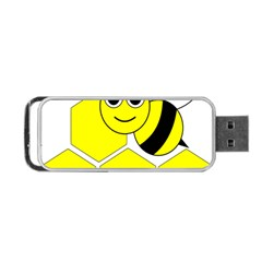 Bee Wasp Yellow Portable Usb Flash (two Sides) by Alisyart