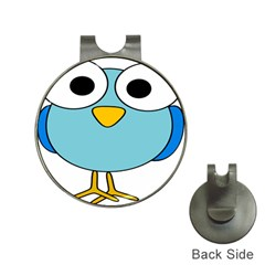 Bird Big Eyes Blue Hat Clips With Golf Markers by Alisyart