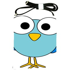 Bird Big Eyes Blue Shoulder Sling Bags by Alisyart