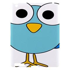 Bird Big Eyes Blue Apple Ipad 3/4 Hardshell Case by Alisyart