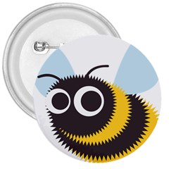 Bee Wasp Face Sinister Eye Fly 3  Buttons by Alisyart