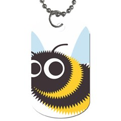 Bee Wasp Face Sinister Eye Fly Dog Tag (two Sides) by Alisyart