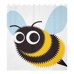 Bee Wasp Face Sinister Eye Fly Shower Curtain 66  X 72  (large)  by Alisyart