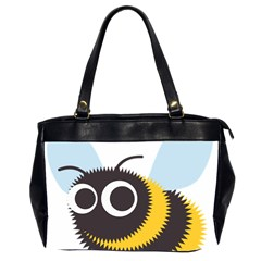 Bee Wasp Face Sinister Eye Fly Office Handbags (2 Sides)  by Alisyart