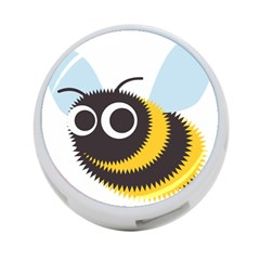 Bee Wasp Face Sinister Eye Fly 4 Port Usb Hub (one Side) by Alisyart