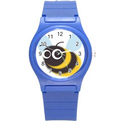 Bee Wasp Face Sinister Eye Fly Round Plastic Sport Watch (s) by Alisyart