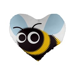 Bee Wasp Face Sinister Eye Fly Standard 16  Premium Heart Shape Cushions by Alisyart
