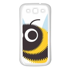 Bee Wasp Face Sinister Eye Fly Samsung Galaxy S3 Back Case (white) by Alisyart