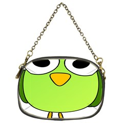 Bird Big Eyes Green Chain Purses (one Side)  by Alisyart